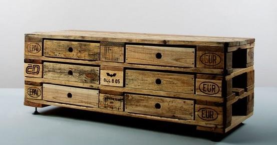 Kimidori des meubles en palettes recycl es joli place for Meubles palettes de recuperation