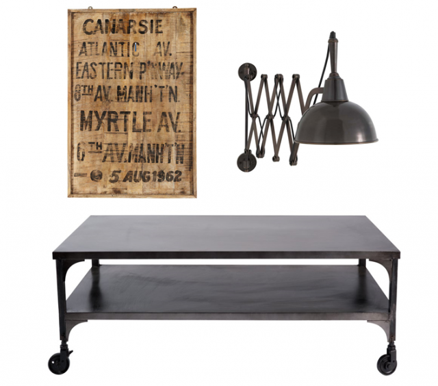O trouver une table basse pour un salon style industriel for Maison du monde table basse de salon