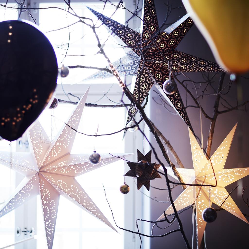 Des branchages en guise de déco de Noël - Joli Place