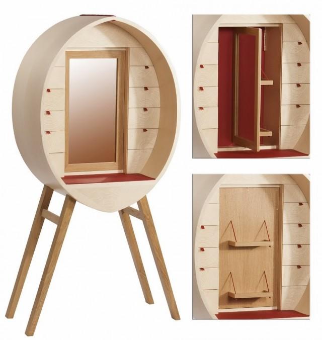 Les meubles en bois de magali senaux joli place for Coiffeuse meuble design