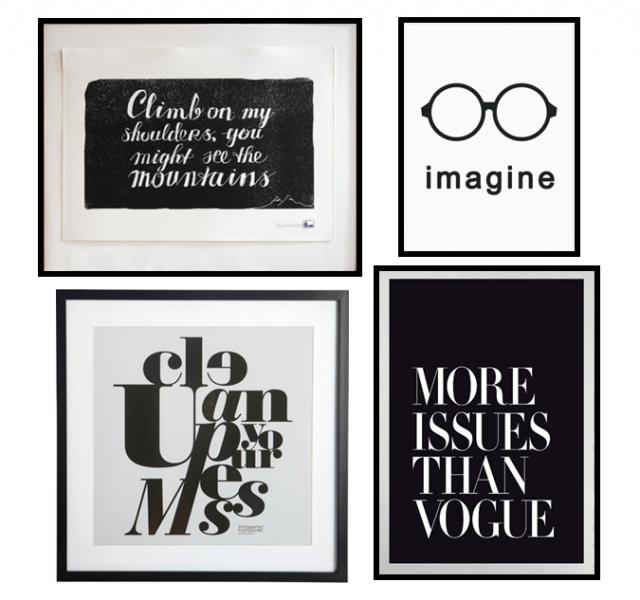 Des Statement Posters En Noir Et Blanc Joli Place