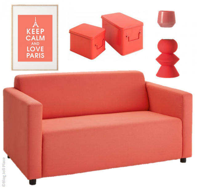 o trouver de la d co couleur corail joli place. Black Bedroom Furniture Sets. Home Design Ideas
