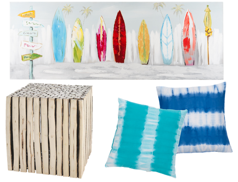 L 39 esprit d co surfin 39 usa joli place for Maison du monde tableaux deco