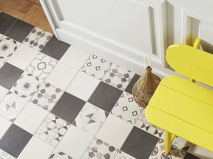 inspirations pour un sol en carreaux de ciment joli place. Black Bedroom Furniture Sets. Home Design Ideas