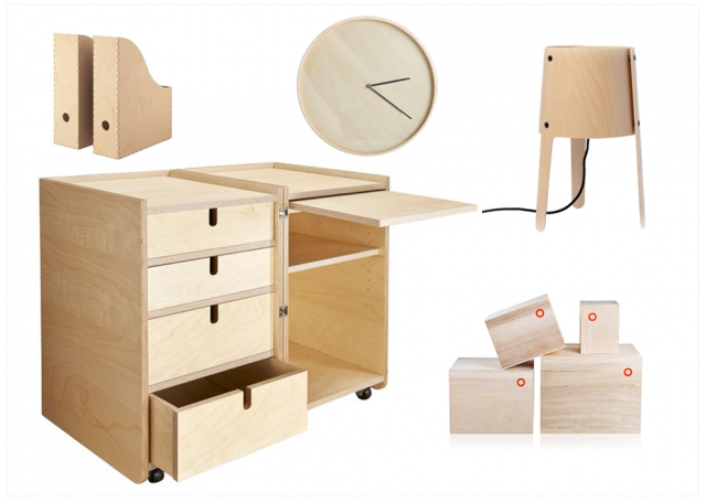La d co en contreplaqu joli place - Petit bureau design ...