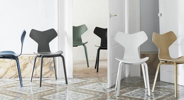 chaise grand prix arne jacobsen fritz hansen design scandinave 2 joli place. Black Bedroom Furniture Sets. Home Design Ideas