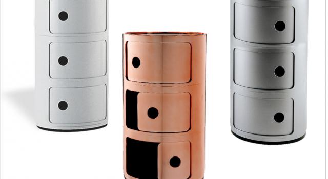 componibili kartell petit meuble pour entree design trois portes cuivre argent blanc pas cher. Black Bedroom Furniture Sets. Home Design Ideas