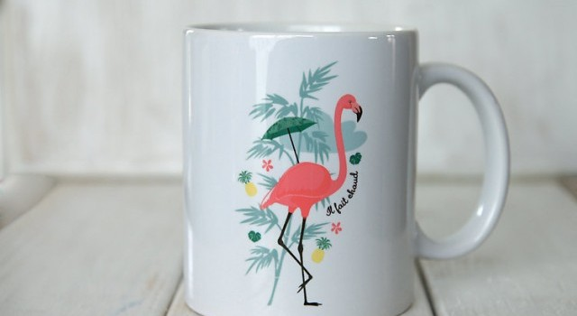 mug flamant rose deco tendance joli place. Black Bedroom Furniture Sets. Home Design Ideas