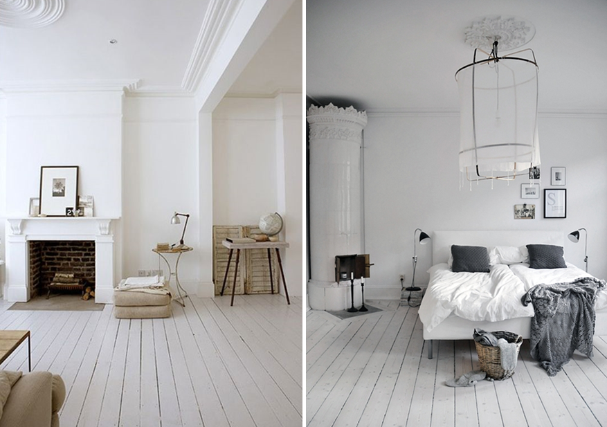 Comment peindre un parquet en blanc ou en couleur joli place for Peindre un sol en bois