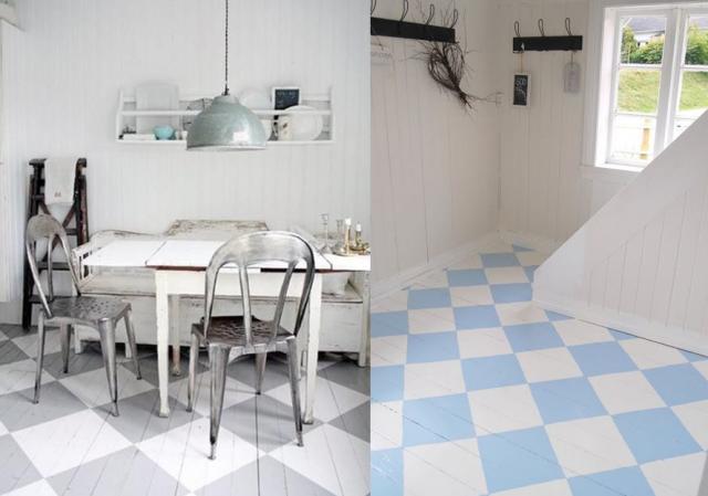 Comment peindre un parquet en blanc ou en couleur joli place - Peindre un parquet ancien en blanc ...