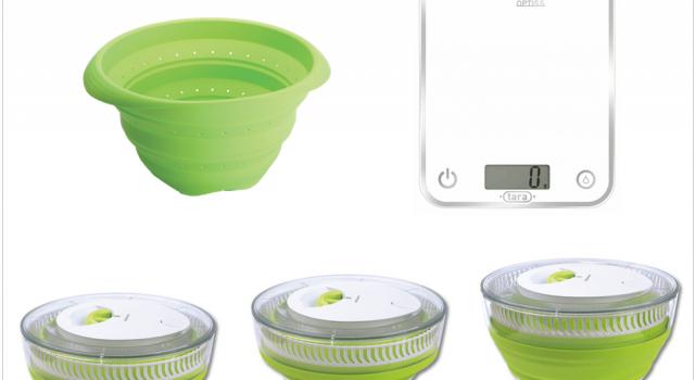 Idee gain de place passoire essoreuse a salade retractable for Idee gain de place