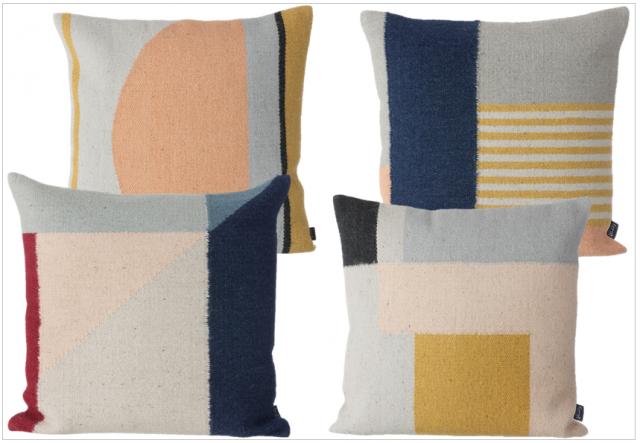 Les tapis et coussins kelim de ferm living joli place - Coussin design scandinave ...