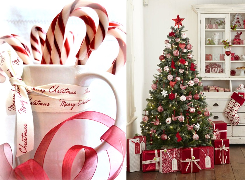 30 inspirations pour un no l en rouge et blanc joli place - Sapin de noel decoration blanc ...