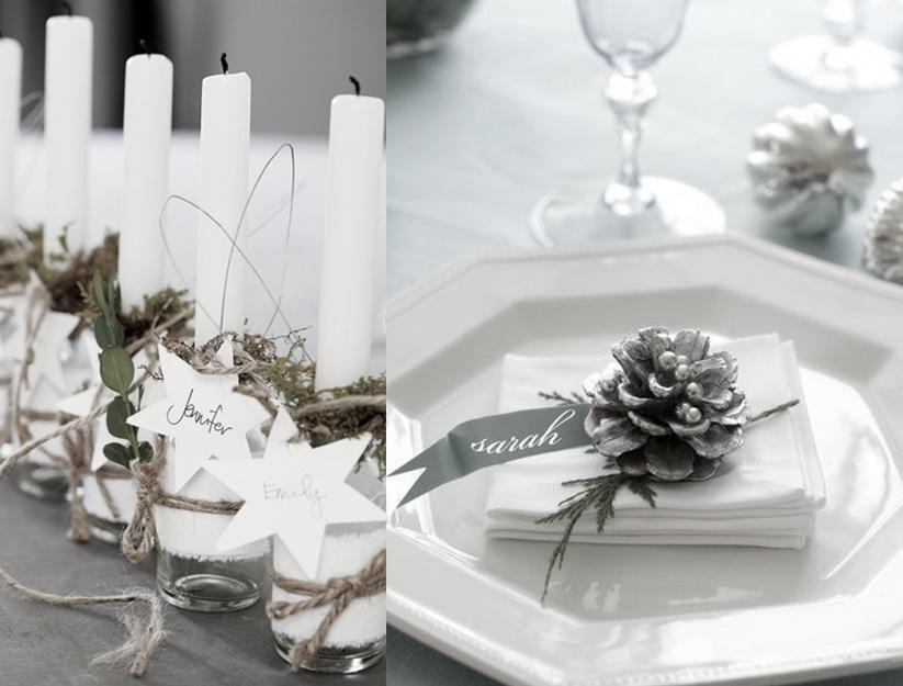 12 idées de marque place pour la table de Noël - Joli Place