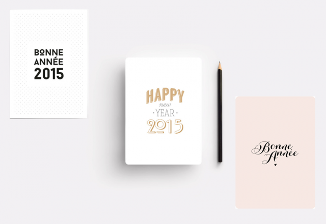 carte de voeux postale 2015 originale createur