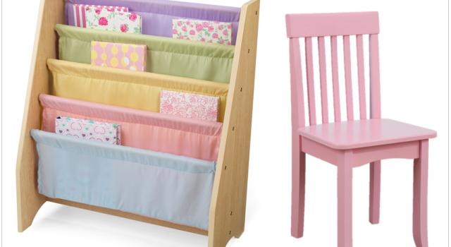 deco enfants chambre petite fille bibliotheque pastel chaise rose soldes hiver 2015 joli place. Black Bedroom Furniture Sets. Home Design Ideas