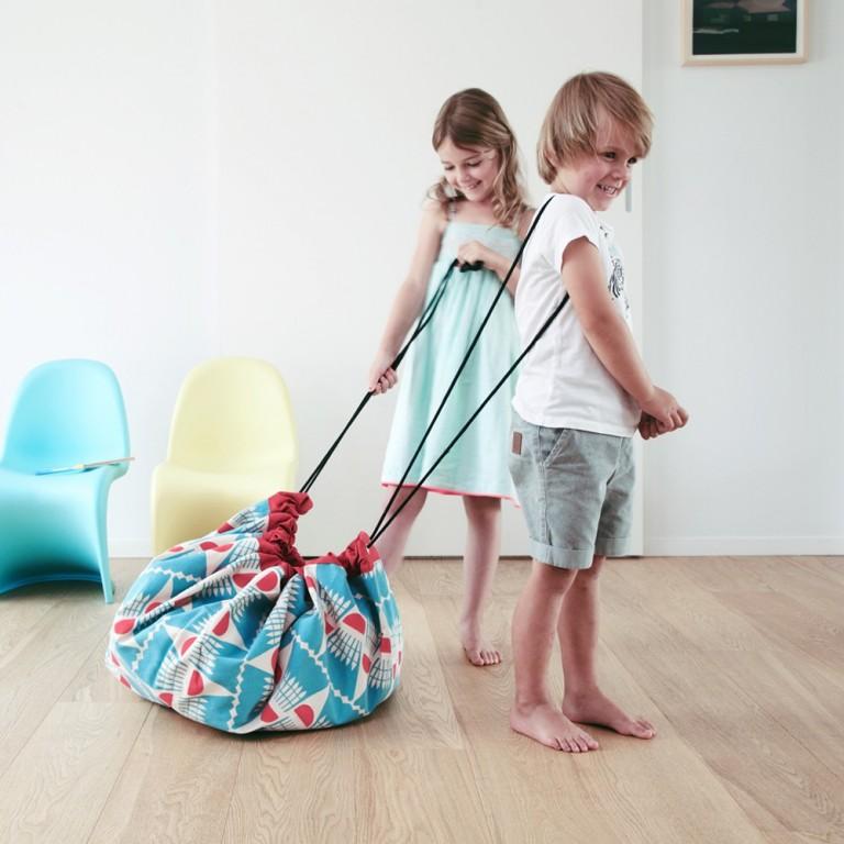 Tapis sac de rangement pour enfant
