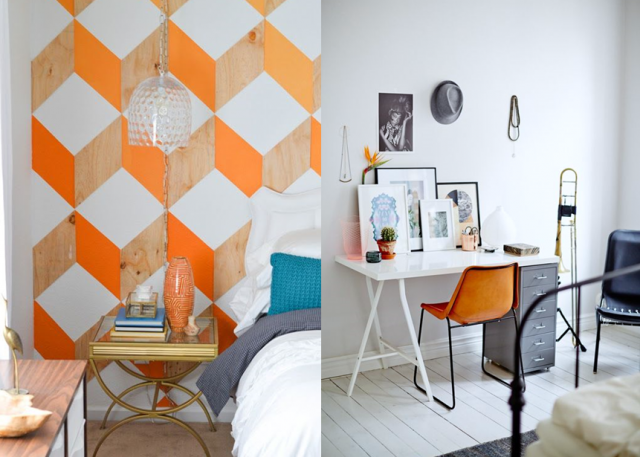 20 inspirations pour un zest d 39 orange dans la d co joli. Black Bedroom Furniture Sets. Home Design Ideas