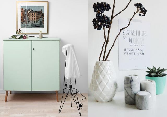 une pointe de vert menthe dans la d co joli place. Black Bedroom Furniture Sets. Home Design Ideas