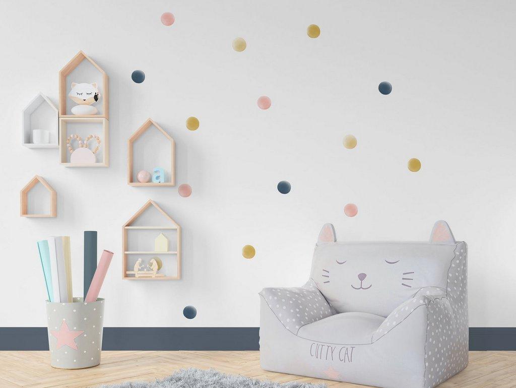 stickers pois chambre enfant
