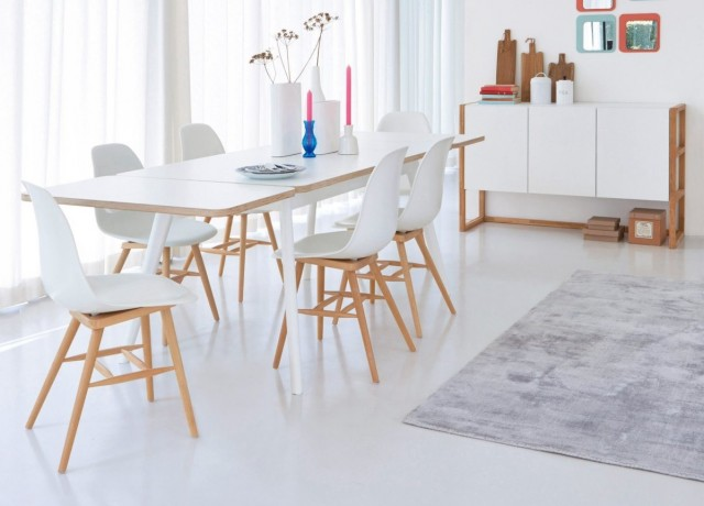 10 tables de repas rallonges joli place for Table nordique extensible