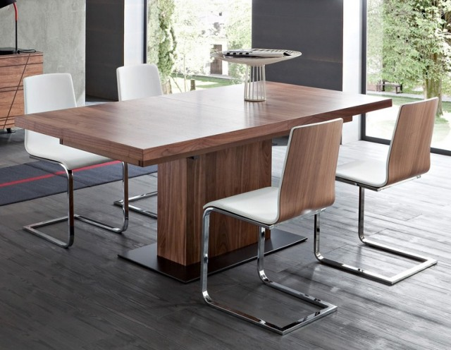 10 tables de repas rallonges joli place - Table pied central avec allonge ...