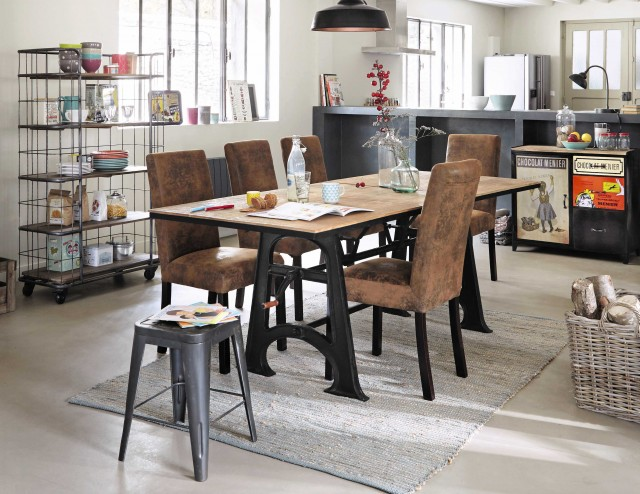 10 tables de repas rallonges joli place for Table extensible industrielle