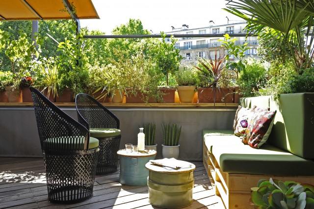 Déco terrasse brasserie Auteuil