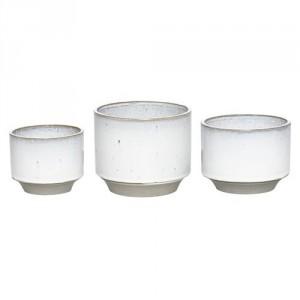 cache pot en céramique blanc