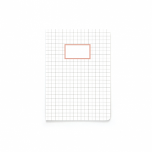 cahier motif quadrillage