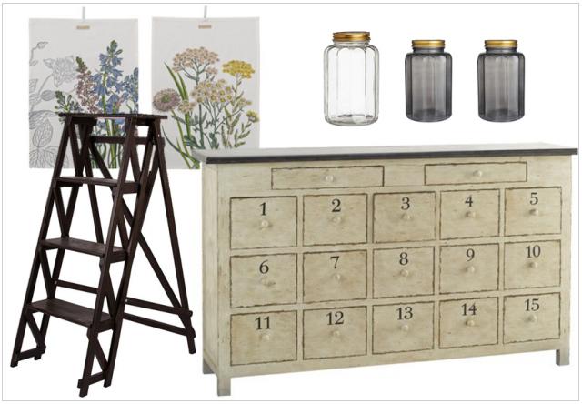 une d co comme chez l 39 apothicaire joli place. Black Bedroom Furniture Sets. Home Design Ideas