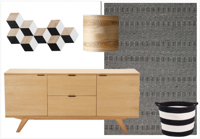bois noir et blanc le trio d co gagnant joli place. Black Bedroom Furniture Sets. Home Design Ideas