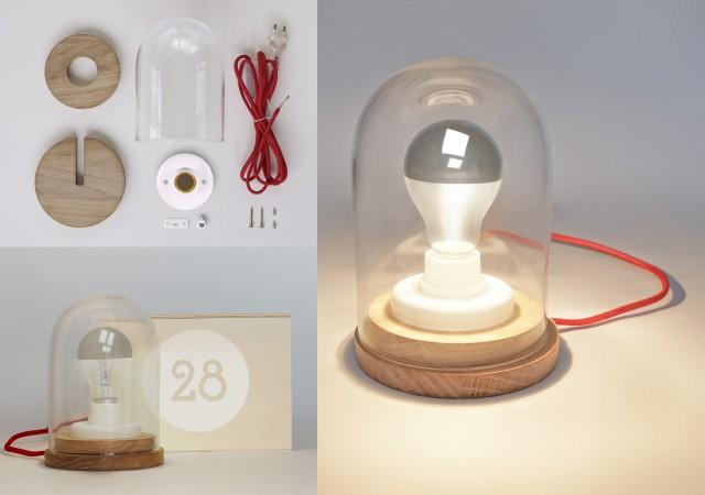Lampe sous cloche