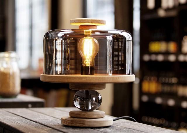 lampe cloche verre