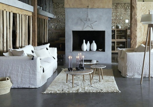 Awesome Salon Deco Blanc Et Gris Gallery  Amazing House Design