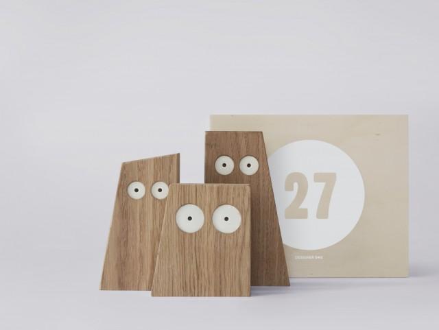 chouettes en bois design