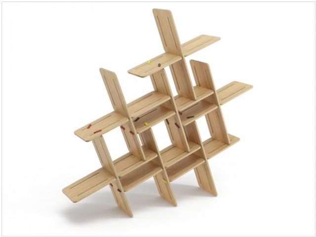 Etagère modulable en bois