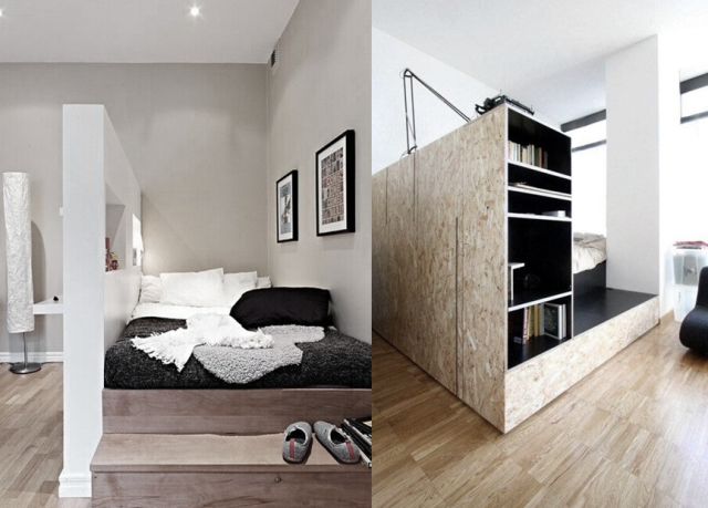 6 id es pour diviser un studio joli place. Black Bedroom Furniture Sets. Home Design Ideas
