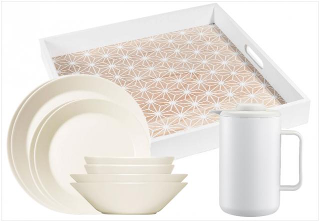 Vaisselle design blanche