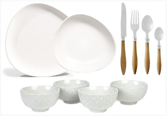 O trouver de la jolie vaisselle blanche joli place - Carrefour vaisselle de table ...