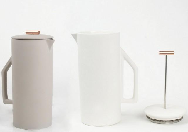 Cafetière à piston en céramique