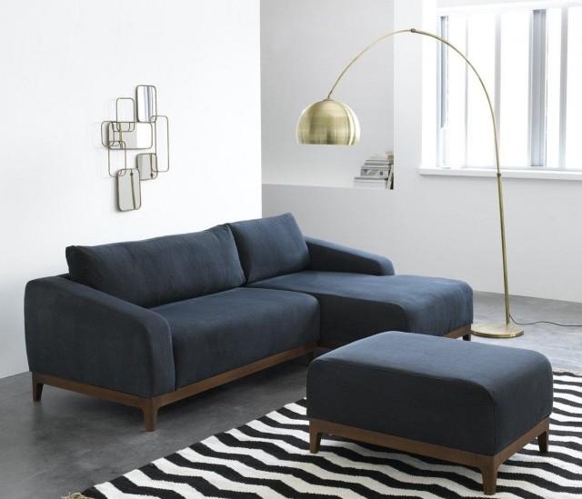 Canapé vintage bleu marine