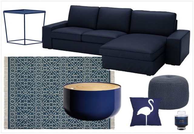 une touche de bleu marine dans la d co joli place. Black Bedroom Furniture Sets. Home Design Ideas