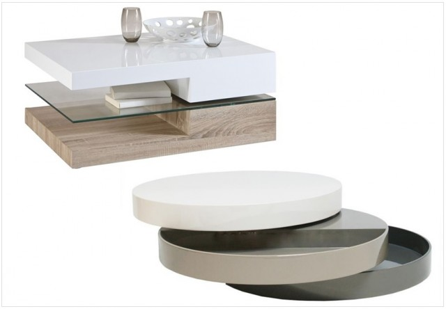 Les tables basses design multifonctions joli place - Table basse pivotant ...