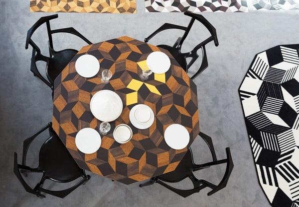 Table de repas et tapis design