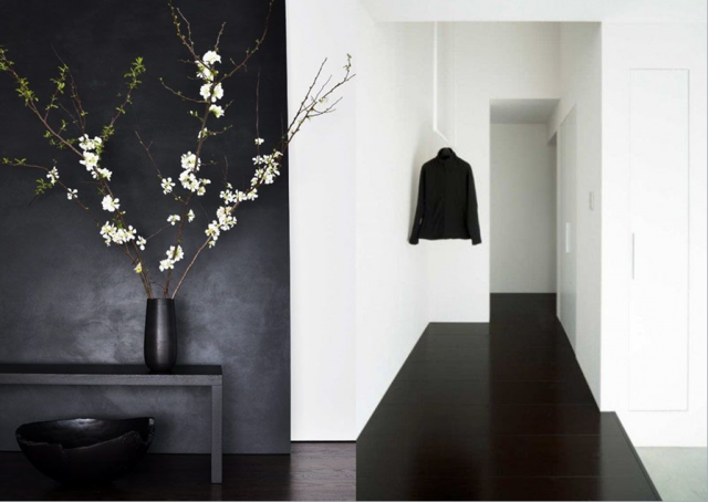 15 inspirations d co en noir joli place. Black Bedroom Furniture Sets. Home Design Ideas