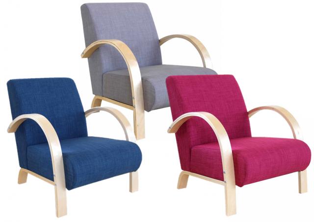 Les fauteuils aux pieds en bois cintré Joli Place