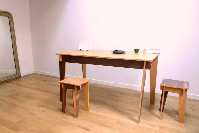 Table en bois emboîtable Jules & Pierre