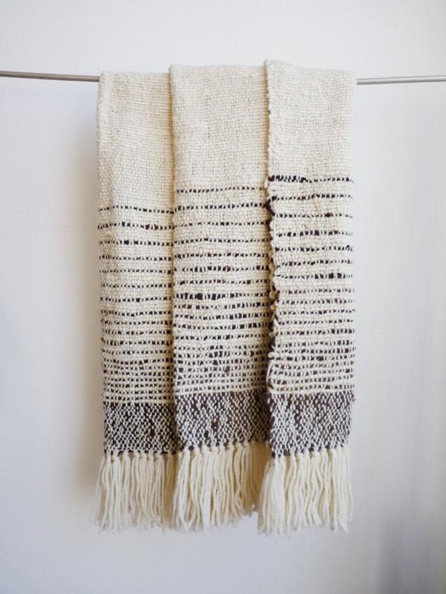 Plaid en laine naturelle