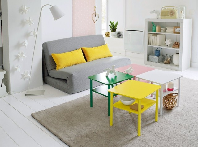 table basse en couleur